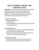 World Wonder Compare and Contrast Essay