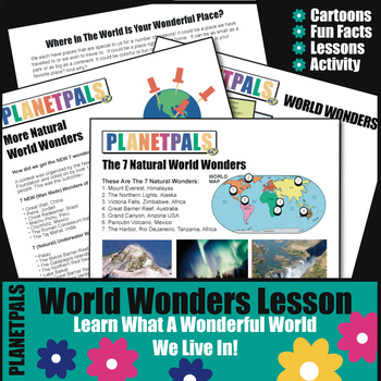 World Wonders Reading Writing Lesson Geography History Fun Facts on Earth