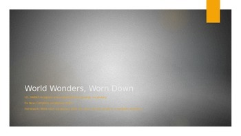 World Wonders, Worn Down? Vocabulary