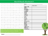 World Wood Types Wordsearch Sheet Starter Activity Keywords Cover Design