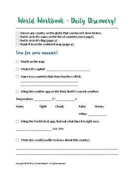 World Workbook - Write & Wipe - Daily Discovery (10 Mins.)