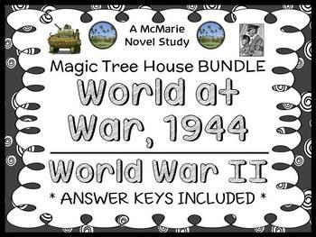 World at War, 1944   World War II Fact Tracker: Magic Tree House BUNDLE (65 pgs)