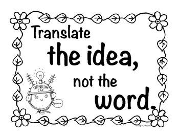 World language poster