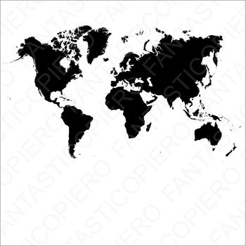 World map SVG file for Silhouette Cameo and Cricut
