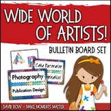 World of Artists - Careers in Art Bulletin Board & Word Wall