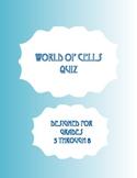 World of Cells Quiz