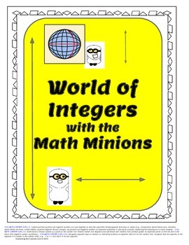 Positive and Negative Concepts, World of Integers with the Math Minions