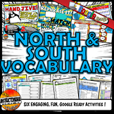 World of North and South Interactive Vocabulary Google Ready Distance Learning