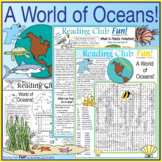 World of Oceans Two-Page Activity Set, Word Search & Water