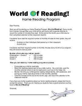 World of Reading Home Reading Program 2018-2019 (K-5)