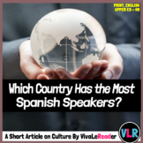 Which Country Has the Most Spanish-Speakers? Reading Compr
