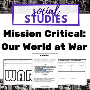 Civil War, World War I, World War II - Interdisciplinary Project