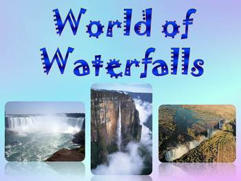 Waterfalls - Angel , Victoria , Niagara , Iguazu - PowerPoint Presentation