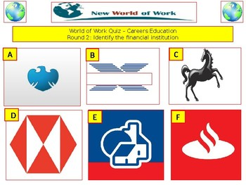 World of Work Quiz (Careers Quiz) - 7 rounds and 40+Qs