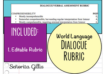 World or Foreign Language Verbal Dialogue Rubric