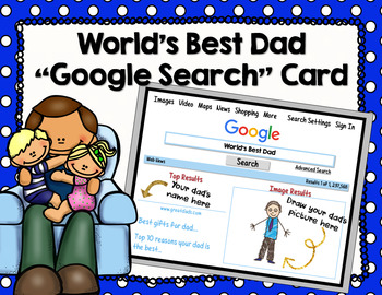 """World's Best Dad """"Google Search"""" Card"""