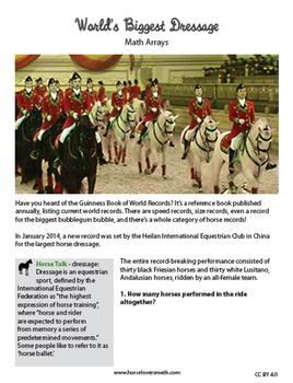 World's Largest Horse Dressage and Math Arrays