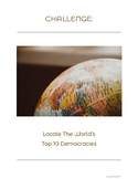 Democracy_World's Top Ten Democracies_Word Search With Map