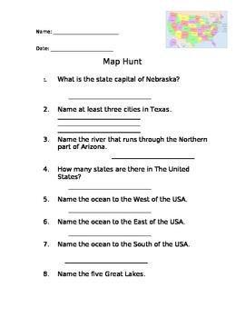 World/USA Map hunt