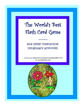 World's Best Flash Card Game and interactive vocabulary activities any subjects