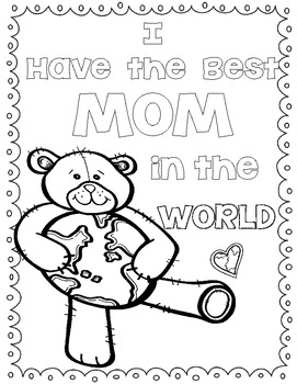 "Mother's Day ""World's Best Mom""   Writing Craftivity & Gift Book"