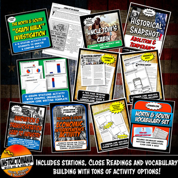 Worlds of North and South Activity Bundle Pre-Civil War Lessons