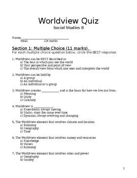 Worldview Quiz