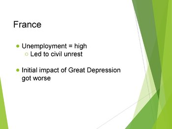 Worldwide Depression PowerPoint, Guided Notes, and Completed Notes