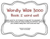 WorldyWise3000- Book 5 Word Wall