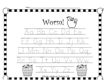 Worm-ABC Letter Game