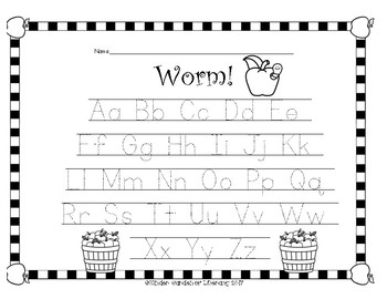 ABC Letter Game-Worm!