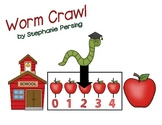 Worm Crawl Number Line Game