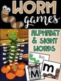 Worm Games - Alphabet and Sight Word Game Literacy Center