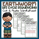 Worm Life Cycle Activity Sequencing & Writing Worksheets Differentiated