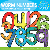 Worm Numbers Clipart