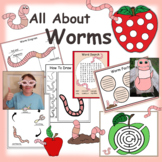 Worm Paper Crafts, Activities And Clip Art Collection