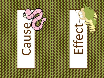 Worm cause and effect - nature - Bob and Otto