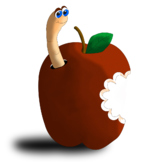 Worm in Apple Clipart