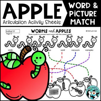 Worms & Apples: Word/Picture Match for Articulation