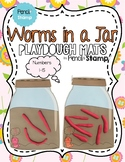 Worms In a Jar- Number Recognition - Playdough Mats