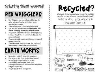 WORMS! {A booklet of activities celebrating earthworms & worm farming}