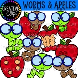Worms and Apples {Creative Clips Clipart}