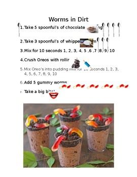 Worms in Dirt recipe