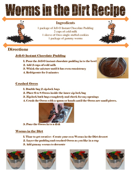 Worms in the Dirt Recipe
