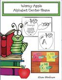 "Alphabet Crafts: ""Wormy Apple"" Alphabet Game. Great for an Alphabet Center Game"