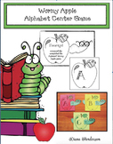 """Alphabet Crafts: """"Wormy Apple"""" Alphabet Game. Great for an"""
