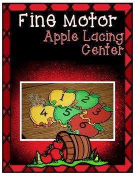 Wormy Apple Lacing ~ Fine Motor Center
