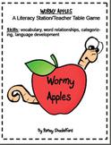 Wormy Apples- Vocabulary Activity