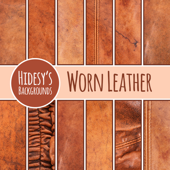 Worn Leather - Western Theme Digital Paper Photos Clip Art Commercial Use