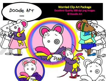 Worried Clipart Pack